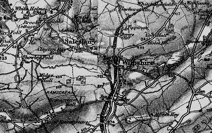 Old map of Wilpshire in 1896