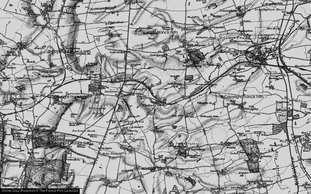 Old Map of Wilsford, 1895 in 1895