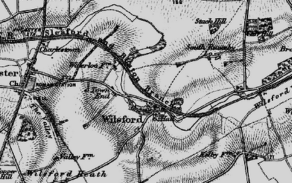 Old map of Wilsford in 1895