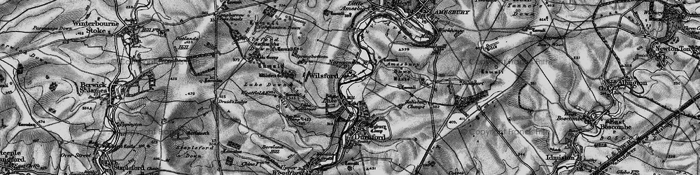Old map of Wilsford in 1898