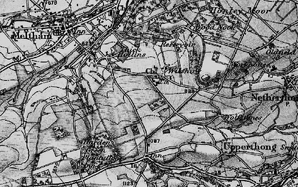 Old map of Wilshaw in 1896