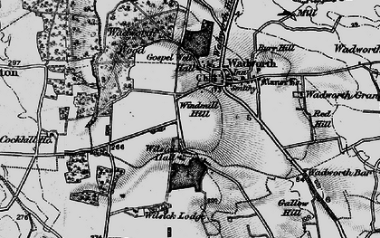 Old map of Wilsic in 1895