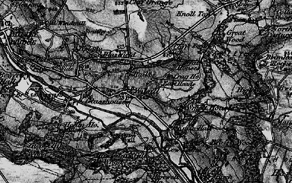 Old map of Wilsill in 1898