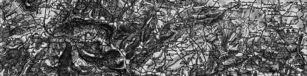 Old map of Wilsley Green in 1895