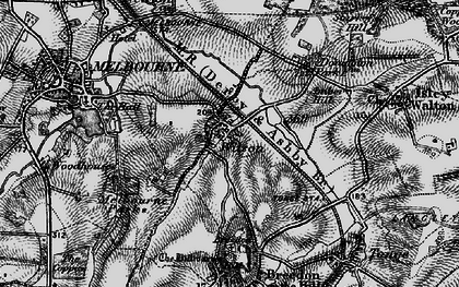 Old map of Wilson in 1895