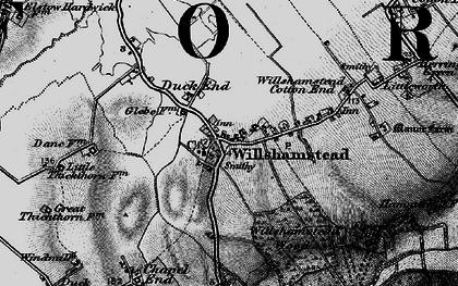Old map of Wilstead Wood in 1896