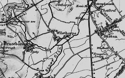 Old map of Wilsthorpe in 1895