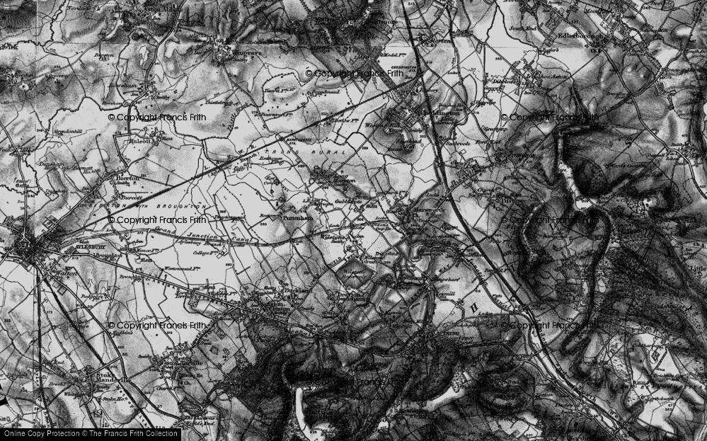 Old Map of Wilstone, 1896 in 1896