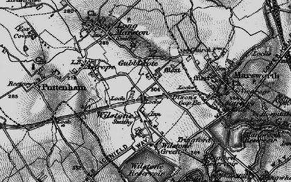 Old map of Wilstone in 1896