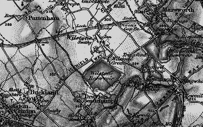 Old map of Wilstone Green in 1895
