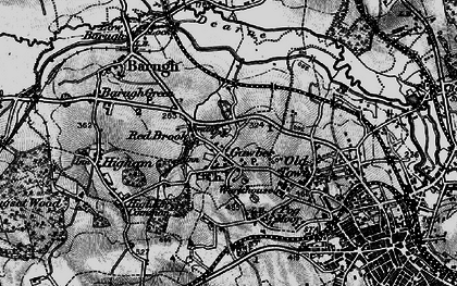 Old map of Wilthorpe in 1896