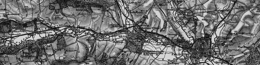 Old map of Wilton in 1895
