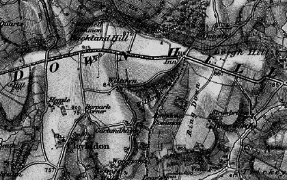 Old map of Wiltown in 1898