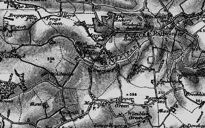 Old map of Wimbish Hall in 1895