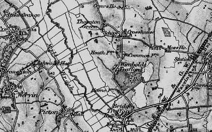 Old map of Wimbolds Trafford in 1896