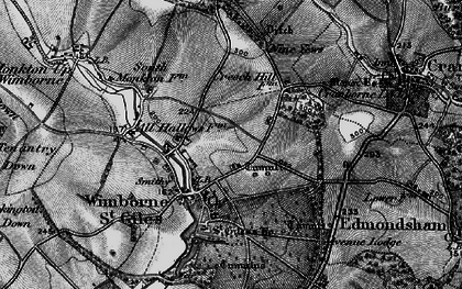 Old map of Wimborne St Giles in 1895