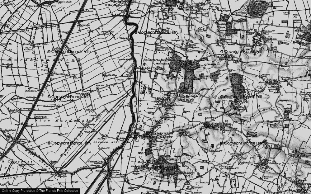 Old Map of Wimbotsham, 1898 in 1898