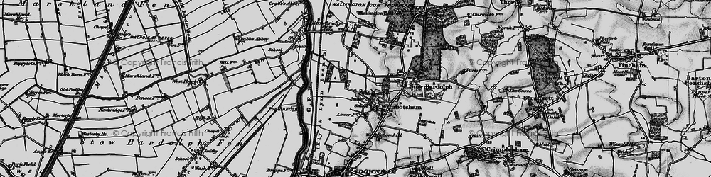 Old map of Wimbotsham in 1898