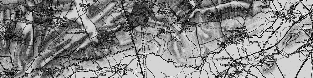 Old map of Wimpole in 1896