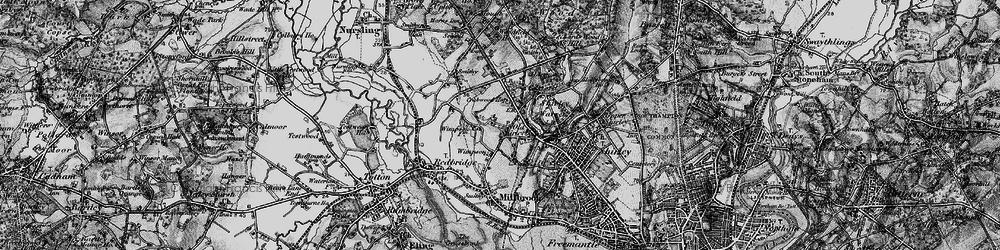 Old map of Wimpson in 1895