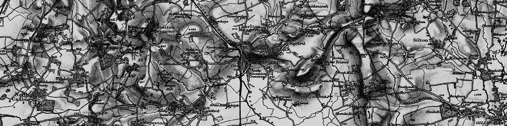 Old map of Wincanton in 1898