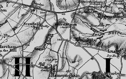 Old map of Winceby in 1899