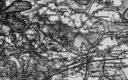 Old map of Wincham in 1896