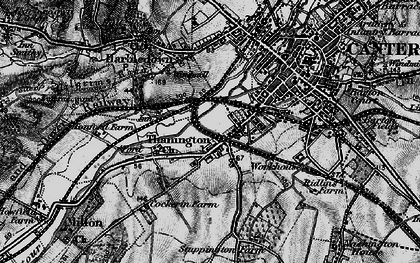 Old map of Wincheap in 1895