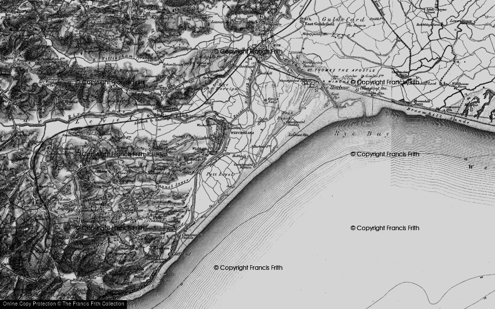 Old Map of Winchelsea Beach, 1895 in 1895