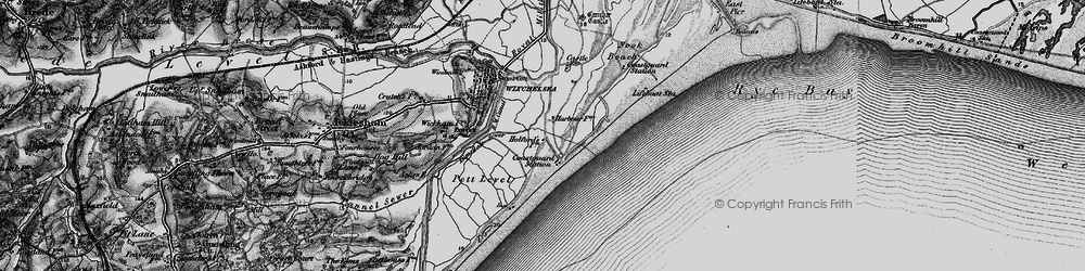 Old map of Winchelsea Beach in 1895
