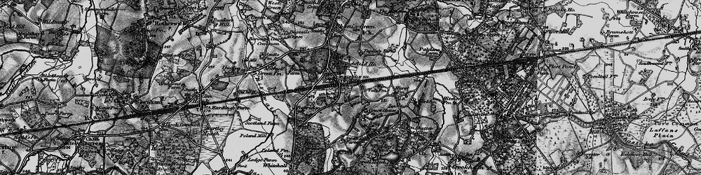 Old map of Winchfield in 1895