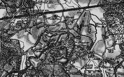 Old map of Winchfield Hurst in 1895