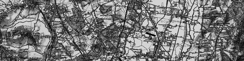 Old map of Winchmore Hill in 1896