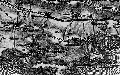 Old map of Wind Hill in 1898