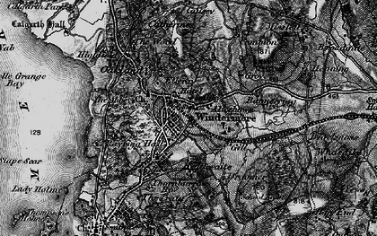 Old map of Windermere in 1897