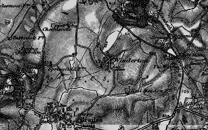 Old map of Winderton in 1896