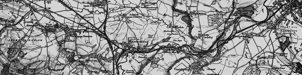 Old map of Windhill in 1896