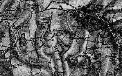 Old map of Winding Wood in 1895