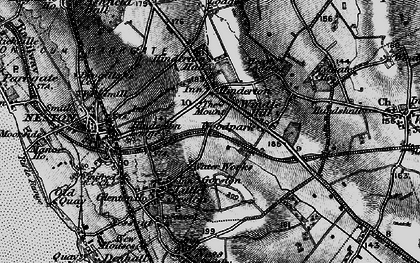 Old map of Windle Hill in 1896