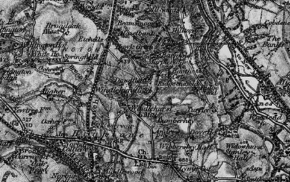 Old map of Windlehurst in 1896