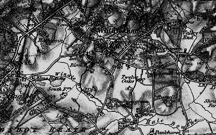 Old map of Windlesham Park in 1896