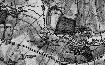 Old map of Windrush Camp in 1896