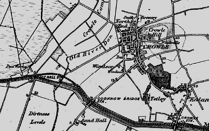 Old map of Windsor in 1895