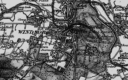 Old map of Windsor in 1896
