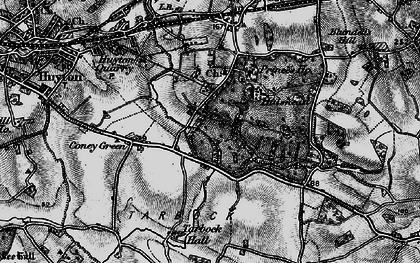 Old map of Windy Arbor in 1896