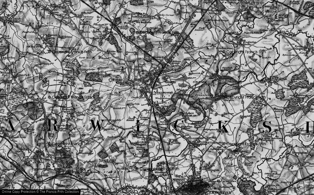 Old Map of Windy Arbour, 1898 in 1898