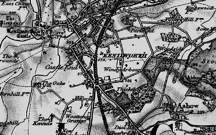 Old map of Windy Arbour in 1898