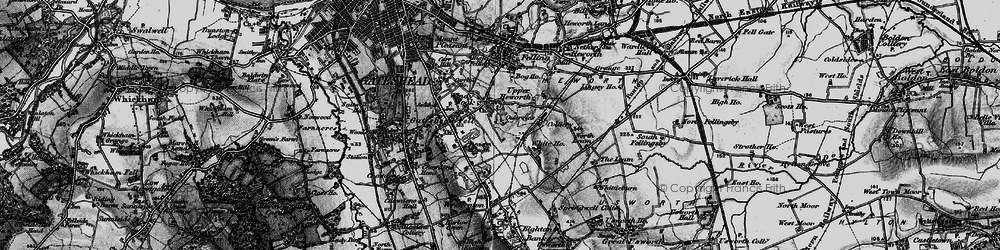 Old map of Windy Nook in 1898