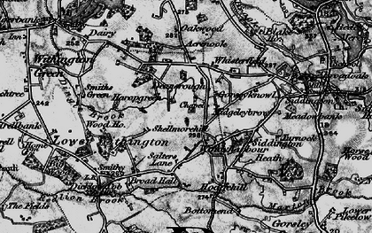 Old map of Windyharbour in 1896