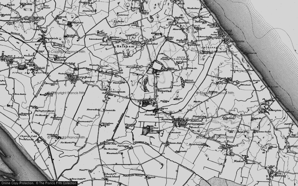 Old Map of Winestead, 1895 in 1895